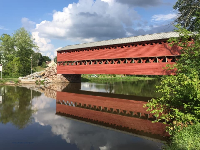 Sachs Covered Bridge Post